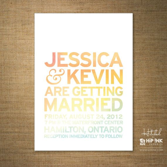 Modern Minimalist Typography Wedding