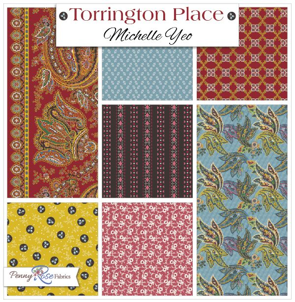 Torrington Place fabric line designed by Michelle Yeo for Penny Rose Fabrics