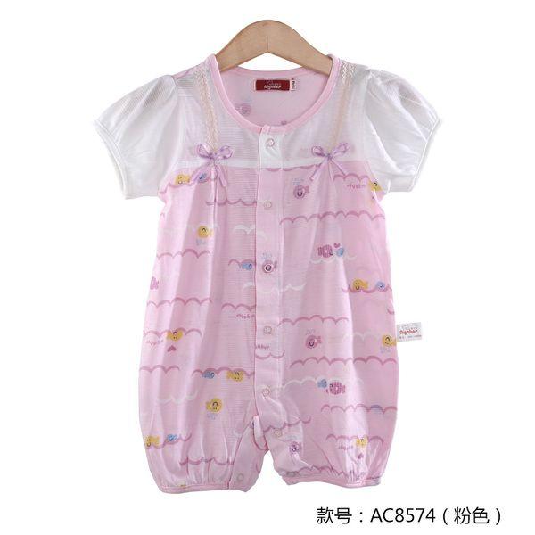 Ползунки, комбинезоны из Китая :: Aika летние детские Одежда детей пижама купальник девушка младенца Ромпер летом и короткие поднимается двойного хлопок.