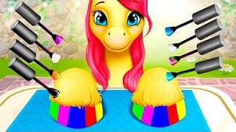 Fun Pet Care and Princess Makeover - Play fun pony games for Kids or Children - YouTube