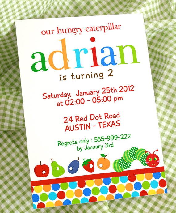 70 best images about The Very Hungry Caterpillar – Very Hungry Caterpillar Party Invitations