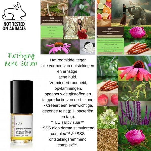 Het redmiddel tegen alle vormen van ontstekingen en ernstige  acne huid. Suki skincare purifying acne serum, 100% natuurlijk.  #acne #sukiskincare #huidproblemen #vettehuid #biologisch #vegetarisch #veganistisch #ecocosmetics