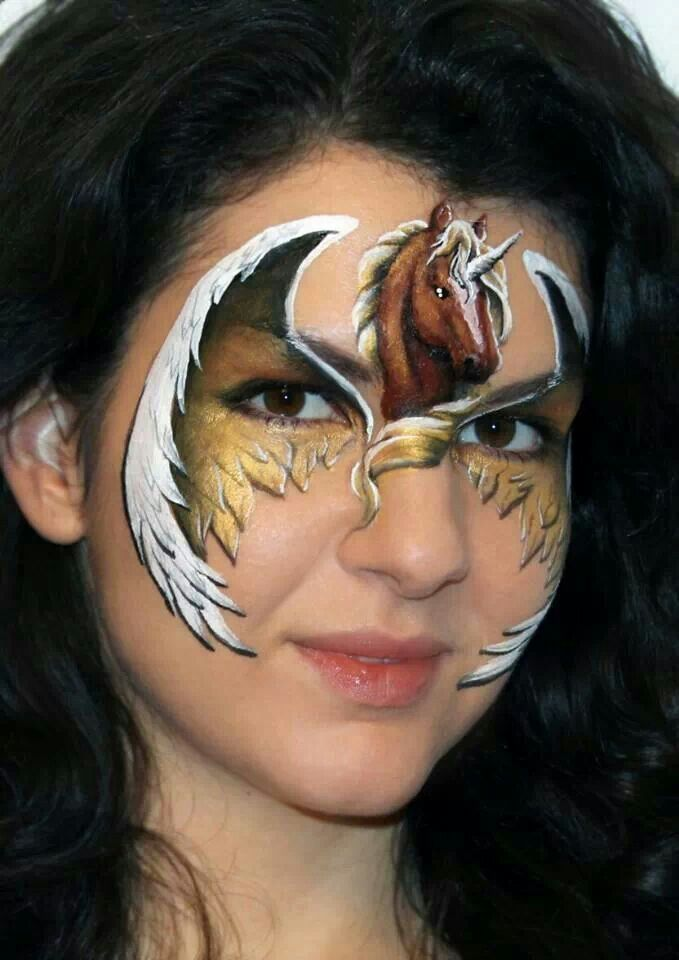 Unicorn Horse Mask Facepainting Pinterest Face Painting Supplies Designs And Art
