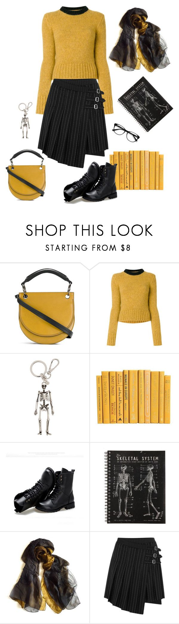 """""""to the bone"""" by ms-wednesday-addams ❤ liked on Polyvore featuring Marni, Alexander McQueen, Sunsteps, Yuh Okano, McQ by Alexander McQueen and EyeBuyDirect.com"""