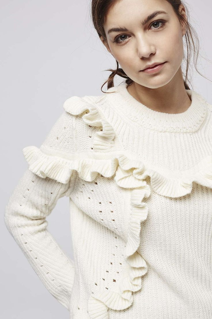 Photo 2 of Pointelle Ruffle Jumper