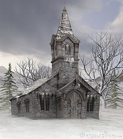 Abandoned Country Churches Old Church In Winter Royalty Free Stock Images Image 22295569