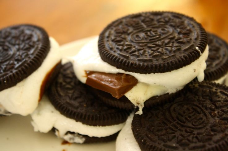 Smoreos....I would incorporate a graham cracker in here somehow too.