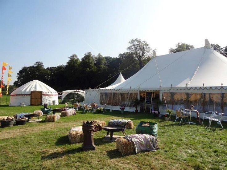 This is one of our Traditional Canvas Tents - it's essentially a wider than usual Traditional Canvas Pole Tent with round ends.