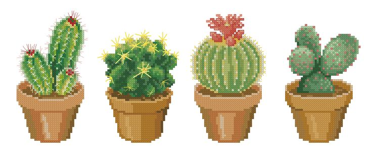 Cactus cross-stitch