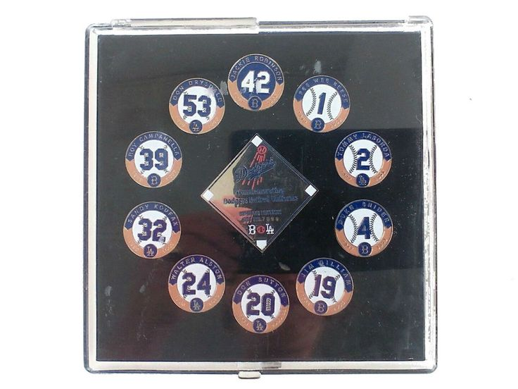 Retired Dodger Uniform Pin Set 10 Pins Limited Edition Season Ticket Holders  #Unbranded #LosAngelesDodgers