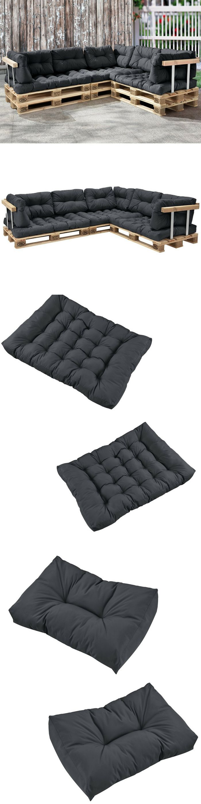 Des coussins (assise & dossier) pour la fabrication de canapés et meubles en palette