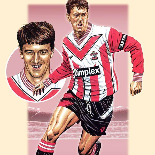 Southampton's Matt Le Tissier in classic 1993 Saints kit. https://www.etsy.com/uk/listing/167116244/matt-le-tissier-southampton-action?ref=shop_home_active_22
