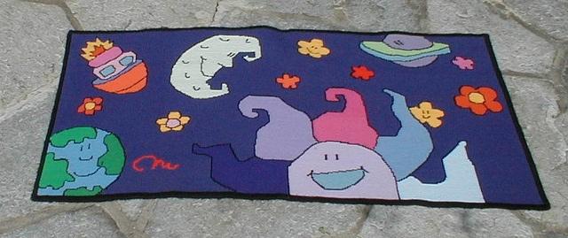 Carpet / Tappeto  The Univers under my feet  L'universo ai miei piedi