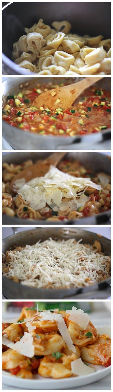 Italian Herb Baked Cheesy Tortellini | Recipes for Braces | Pinterest