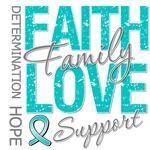 Ovarian Cancer Faith Family Collage Shirts