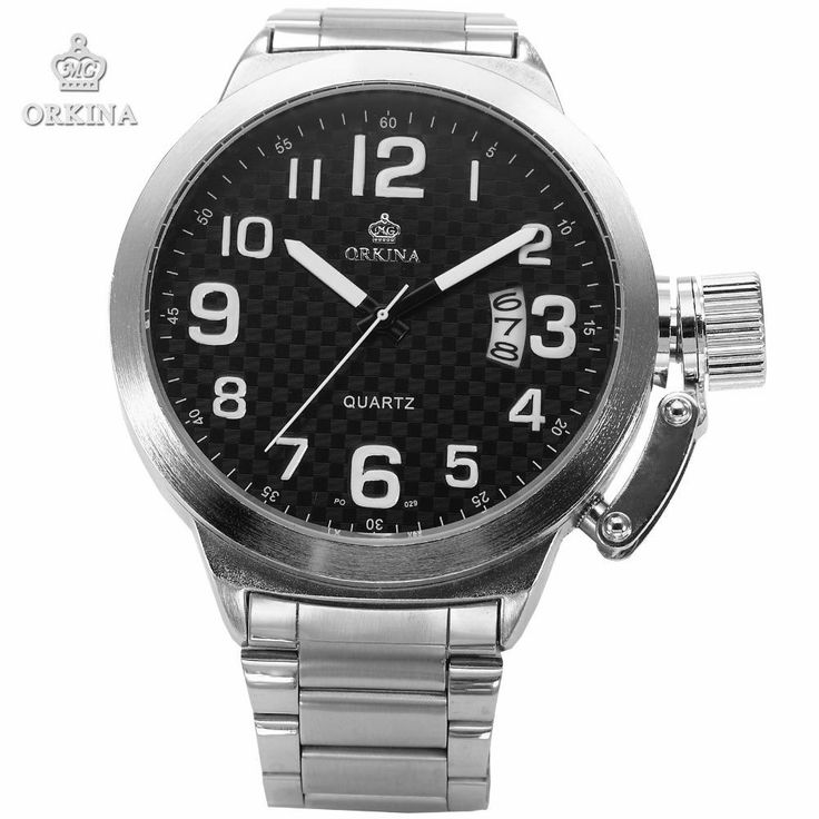 Relojes Mujer 2016 New Clock Men festina Oversized Tough Large Dial Stainless Steel Mens Sport Quartz
