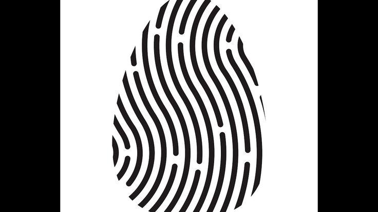Fingerprint logo - Adobe Illustrator cs6 tutorial. How to draw simple lo...
