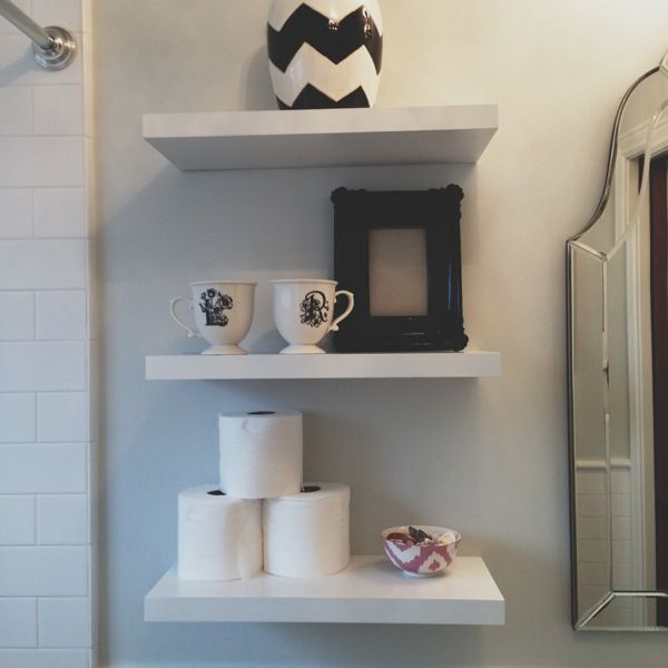 floating bathroom shelf | Floating shelves, For you bath   – Organization