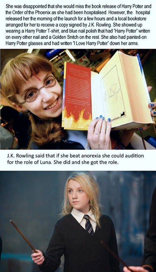 Evanna Lynch Was a True Fan...........omg....@Jess Pearl Pearl Pearl Liu Shannelly  ---- did you know this?