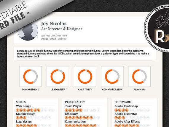 8 Best Images About $1 Resume Templates On Pinterest | Colors, For