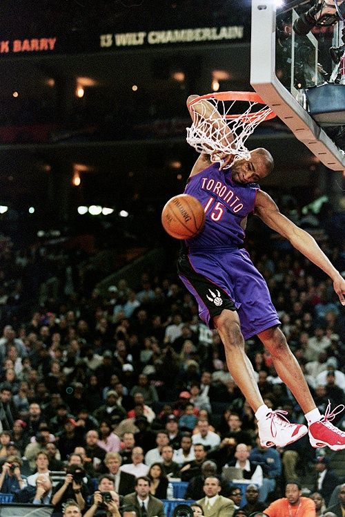 Vince Carter Toronto Raptors NBA Slam Dunk Contest
