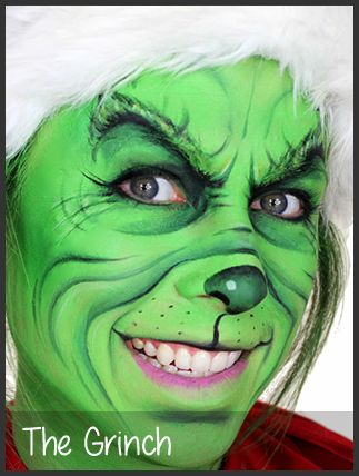 the grinch face painting by mimicks