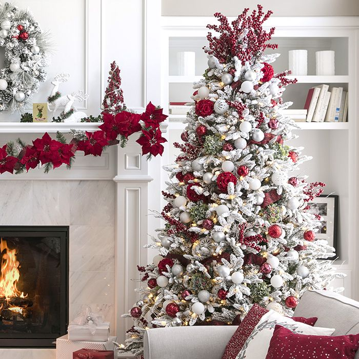 Christmas Tree Decorating Ideas 20 Gorgeous Diy Ideas White Christmas Tree Decorations Christmas Tree Decorations Frosted Christmas Tree