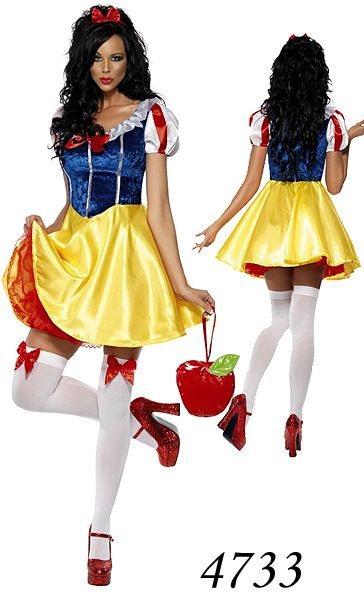 Free Shipping  2013 Women Blue Sexy Snow White  Fairy Tale Cosplay Lingerie Costume Fancy Dress Halloween $18.99