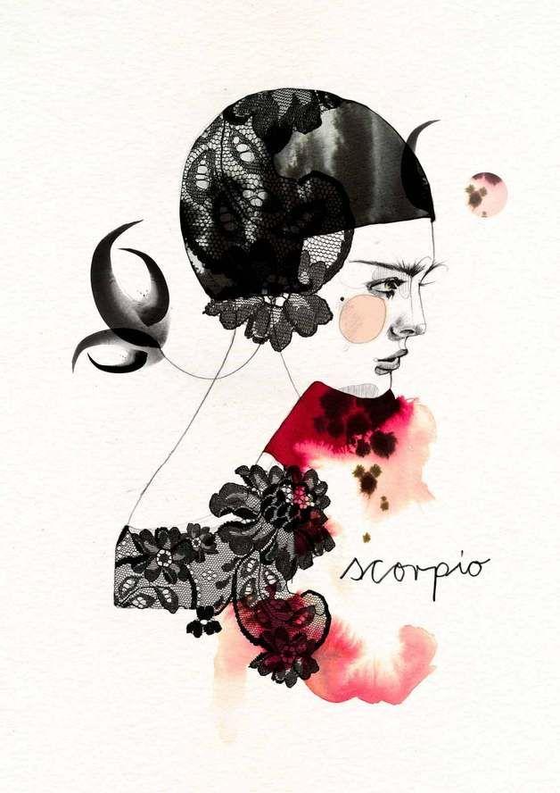 Digitaldruck - Scorpio - ein Designerstück von Ekaterina-Koroleva bei DaWanda
