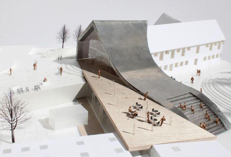 WE architecture Mariehøj culturcenter, Holte, Denmark, in progress