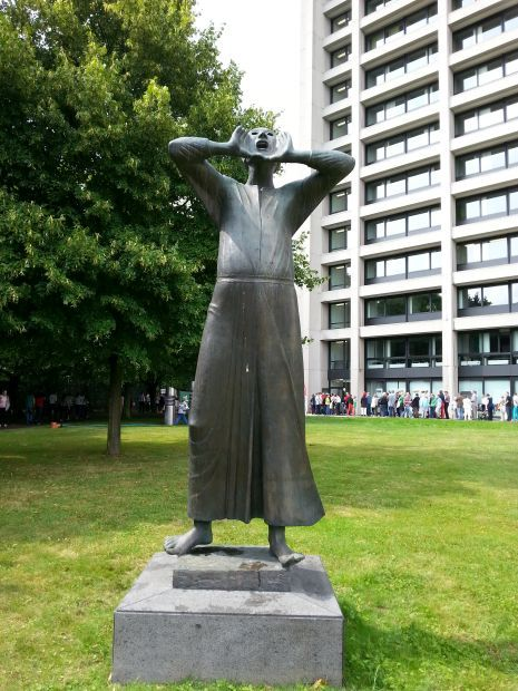 Kunst im Bundesbank Park: Gerhard Marcks Der Rufer