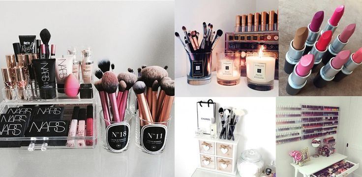 10 modi creativi per organizzare cosmetici e accessori beauty