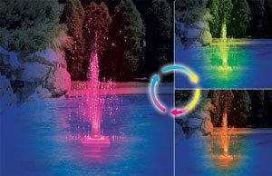 Triple Tier Lighted LED Swimming Pool Fountain http://www.intheswim.com/p/led-triple-tier-pool-fountain