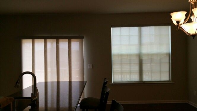 Graber Solar Screen shade with sliding panels