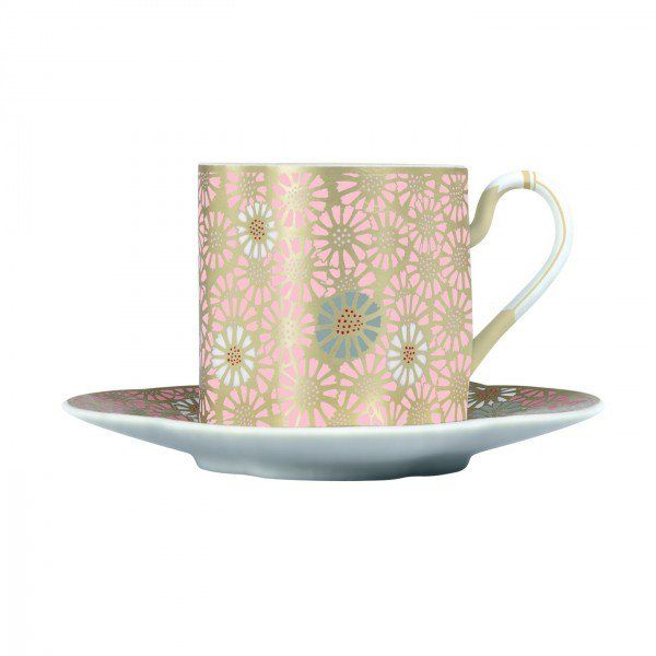 Harlequin Collection Daisy Cup and Saucer