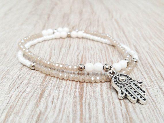 Silver Hamsa Bracelet Hamsa Bracelet Boho Jewelry by Olive1990, €4.85