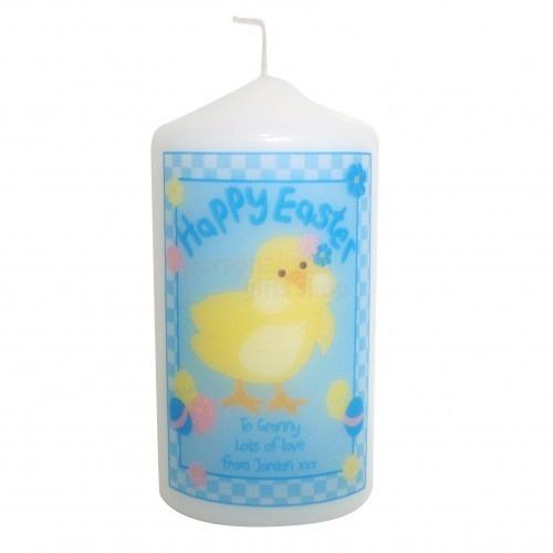29 best easter gift ideas not just chocolate images on pinterest personalised happy easter candle chick perfect easter gift or present for mum dad brother sister son daughter grandad grandma nanny aunite uncle negle