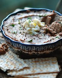 Andrew Zimmern's Family's Chopped Chicken Liver.  I'm not Jewish, but I love liver!