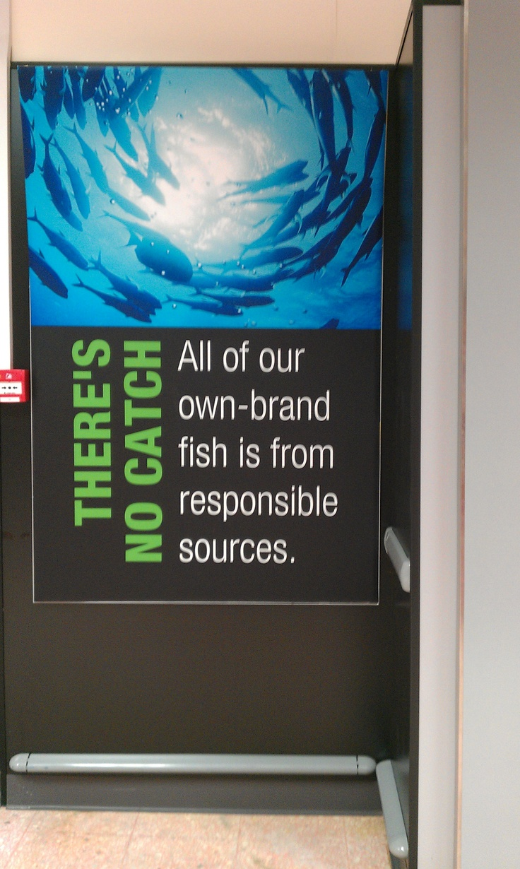 Ethical messaging in-store, Coop (2012)