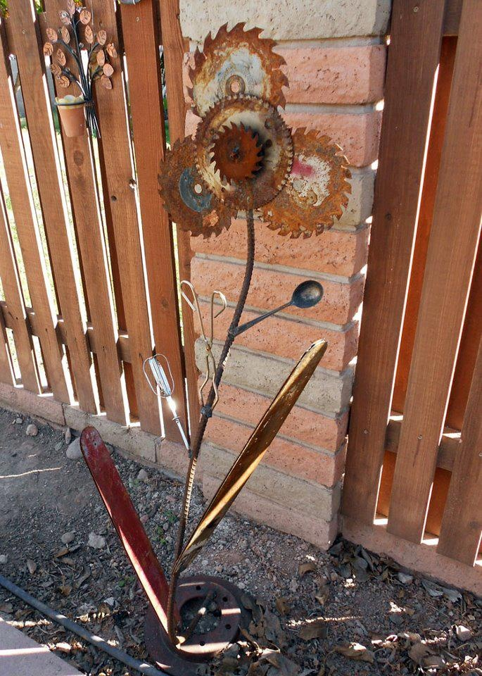 Flower Art Made With Saw Blades Https Sphotos B Xx Fbcdn