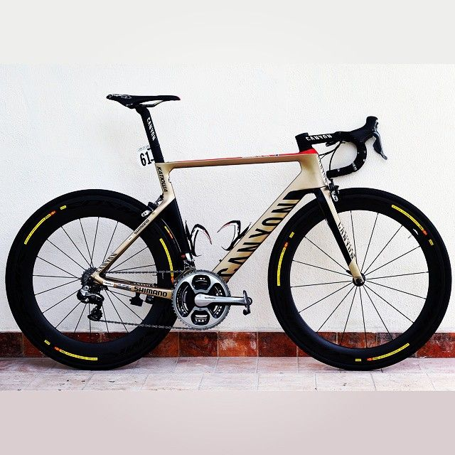 """""""Without many words, just the best bike in the world: Canyon Aeroad CF SLX of Alexander Kristoff! @canyonpurecycling @canyon_bikes @kristoff87…"""""""