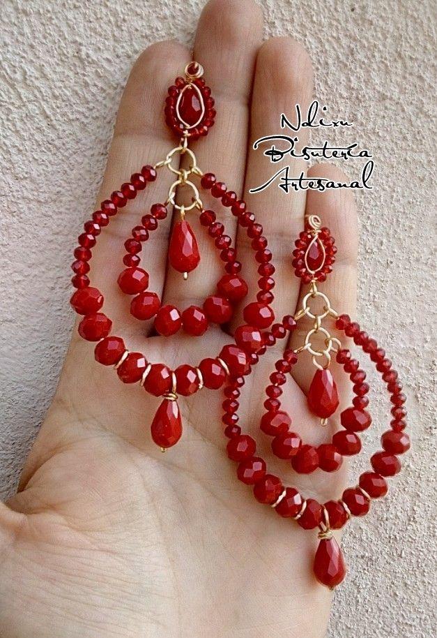 96c614225fba Aretes rojos
