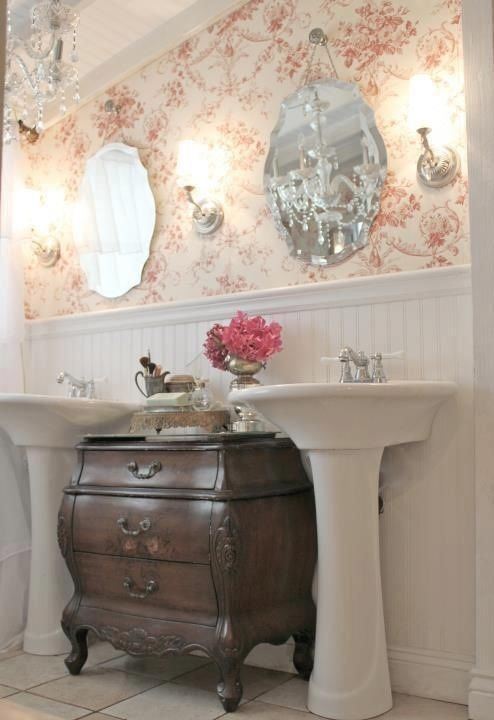 17 best images about antiques retro vintage style on for Country cottage style bathrooms
