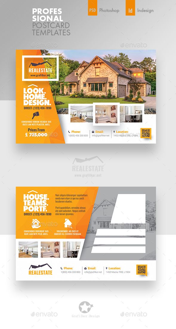 Real Estate Postcard Templates Pinterest Postcard Template