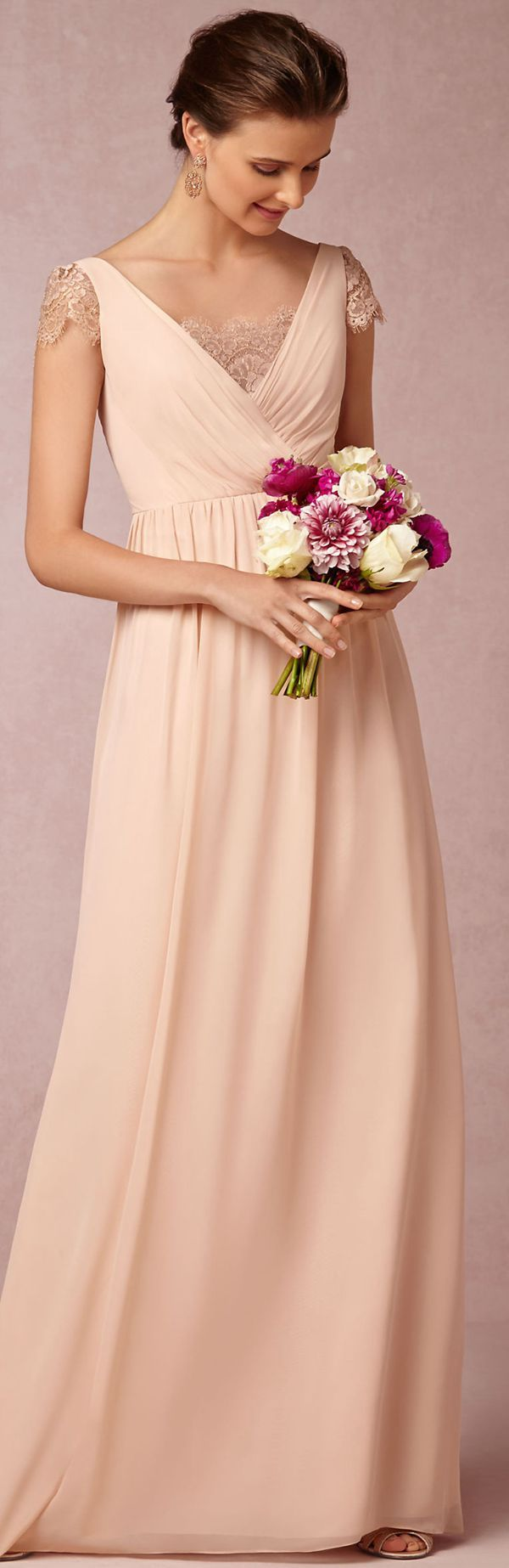 A-line Chiffon Floor-length Sleeveless Zipper Bridesmaid Dresses