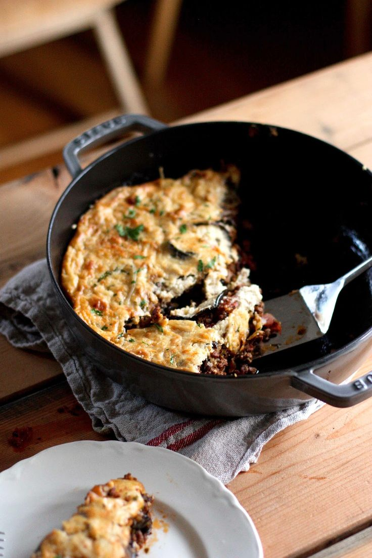 Feasting at Home : Rustic Eggplant Moussaka