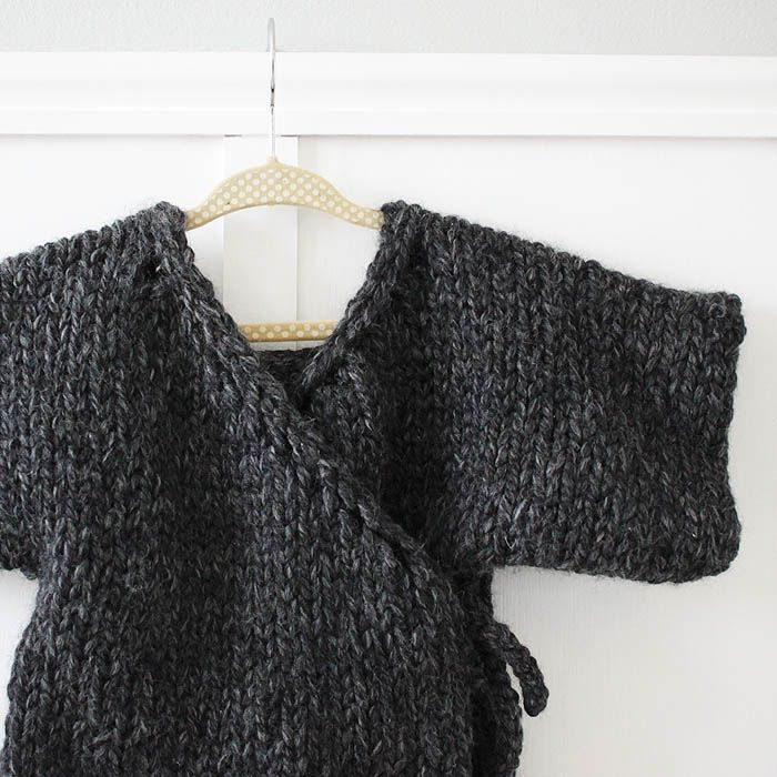 Easy Sweater Knitting Pattern For Beginners : Thick and quick toddler kimono sweater beginner knitting