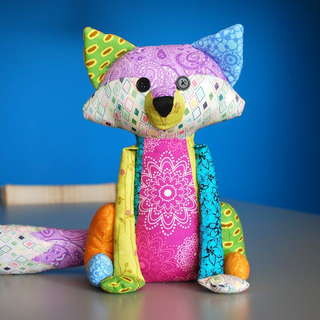Hope's Quilt Designs: A Fancy Fox - Soft Toy Sewing. Pattern by Angel Lea Designs.