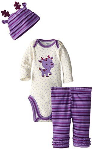 Gerber Baby-Girls Newborn 3 Piece Set Bodysuit Cap and Legging - Reindeer, Purple, 3-6 Months Gerber http://www.amazon.com/dp/B00MN9A3E4/ref=cm_sw_r_pi_dp_dT-Bub092Q6SA