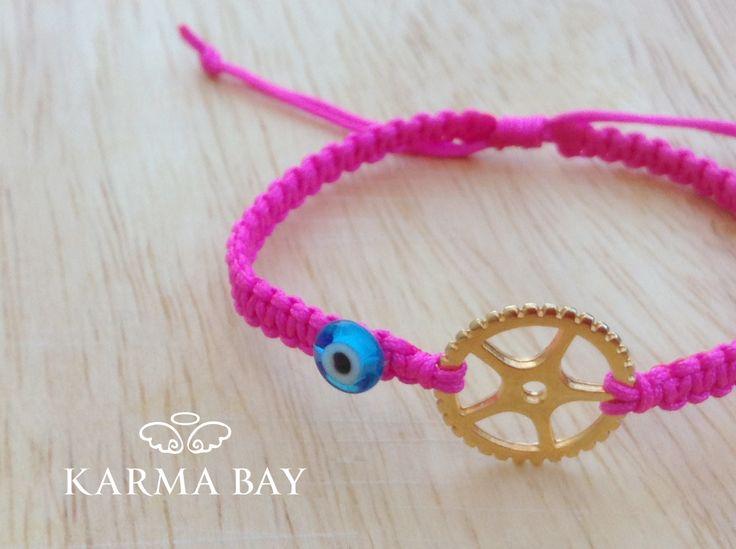 #KarmaBay #Bracelet #Fuchsia #Macrame #ArmCandy #KarmaBay #Fashion #Accessories #Jewellery